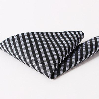 Stylish Checkered Pattern Wedding or Party Business Suit Pocket Square For Men