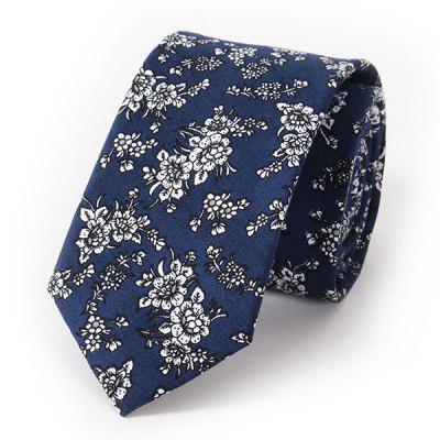 Stylish Handpainted Flowers Print Wedding Casual Party Tie For Men