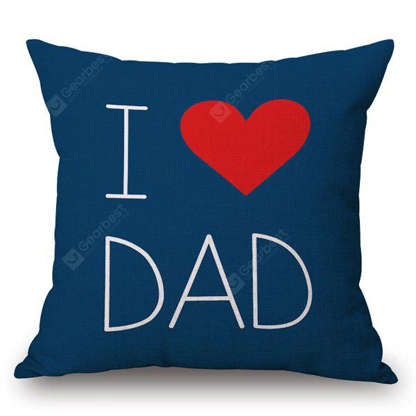 Simple Style I Love Dad Pattern Square Shape Pillowcase