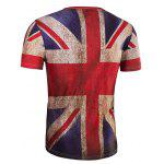 3D Retro Flag Round Neck Short Sleeve T-Shirt For Men deal