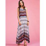 Buy Stylish Round Neck Sleeveless Bohemian Printed Women's Maxi Dress M COLORMIX