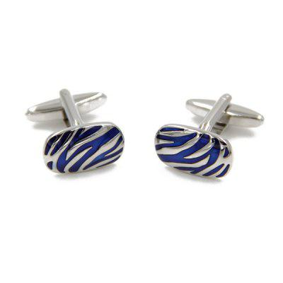 Tiger Stripe Shape Embellished Enamel Cufflinks For Men