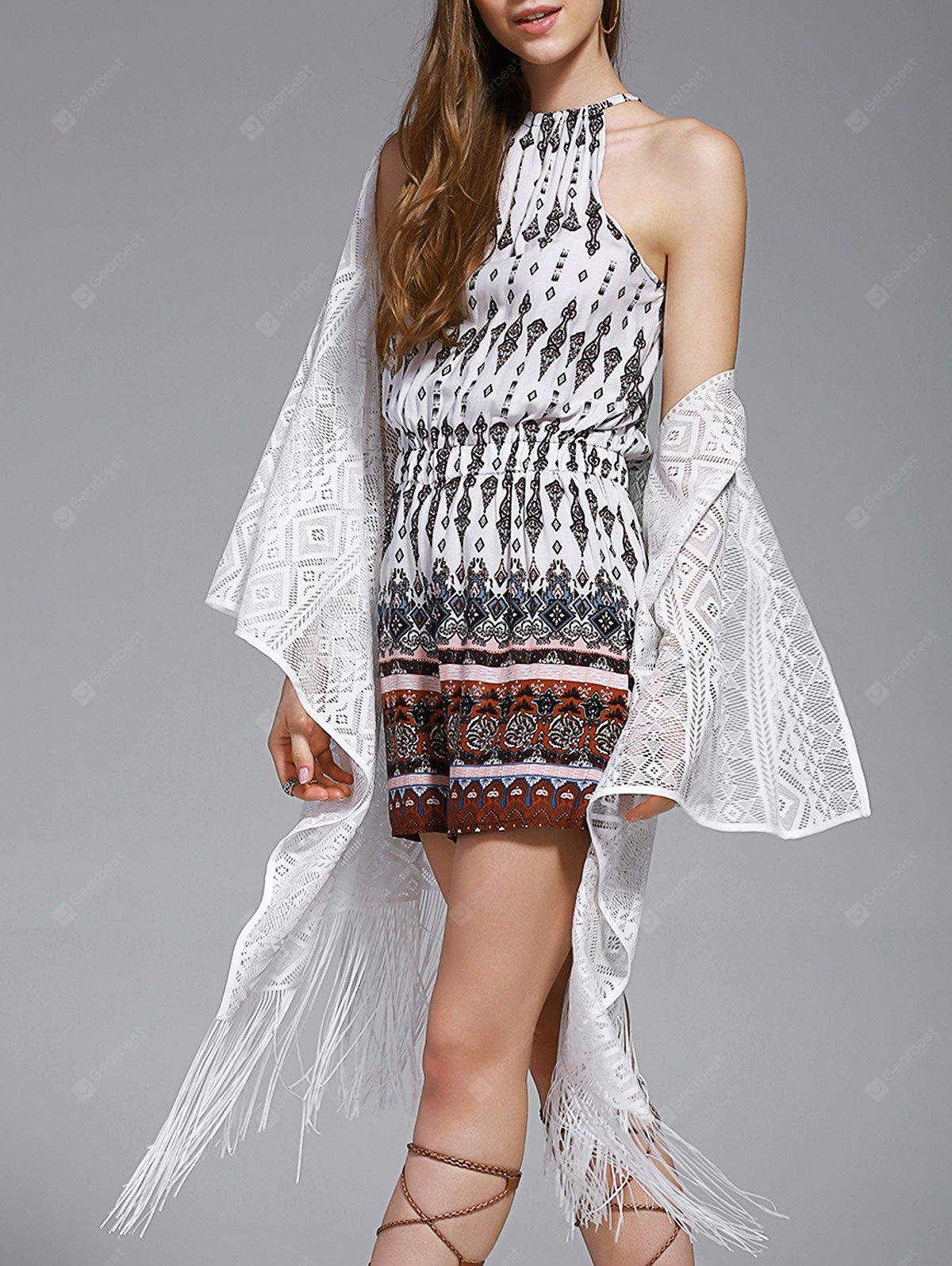 Chic Women's Lace Fringed Spliced Cover-Up