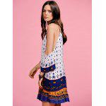 Stylish Cami Off The Shoulder Ethnic Print Women's Dress - WHITE