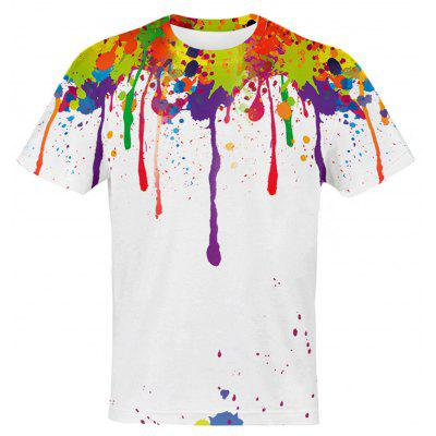 3D Colorful Splatter Paint Pattern T-Shirt