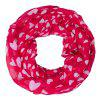 Buy Stylish White Heart Pattern Red Voile Infinity Scarf Shawl Wrap Kids RED