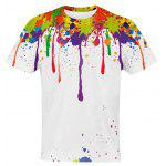 Buy COLORMIX 3D Colorful Splatter Paint Pattern T-Shirt for $13.72 in GearBest store