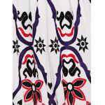 Ethnic Style Waisted Embroidery Cami Dress For Women - WHITE