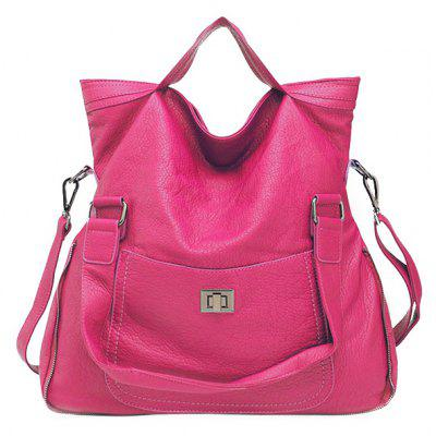 Casual Solid Colour and Hasp Design Tote Bag For Women