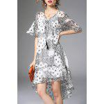 Printed Flounce Ruffles Dress and Cami Tank Top Suit deal