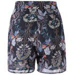 Loose-Fitting Floral Print High Rise Shorts For Women photo