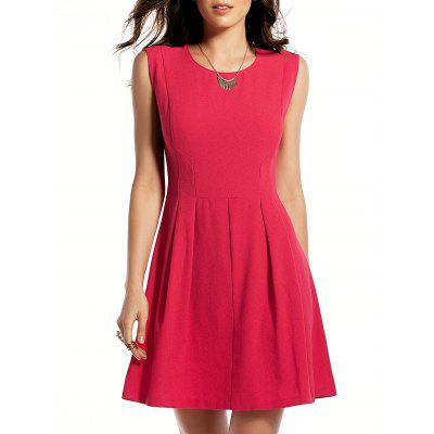 Round Neck Rose Red Sundress