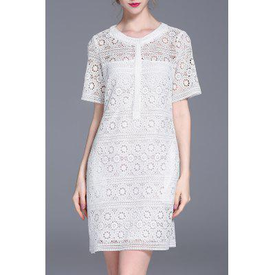 Cut Out Straight Lace Dress