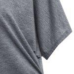 Bat Sleeve Jewel Neck Plain T-Shirt - GRAY