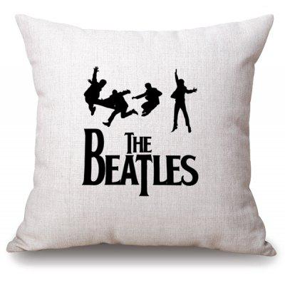 Band Style The Beatles Jumping Cucoloris Letter Pattern Pillowcase