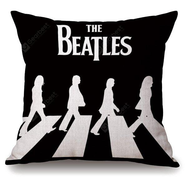 Stylish The Beatles Crossing Road Portrait Linen Pillowcase
