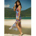 Colorful Zigzag Fringe Racerback Flapper Dress deal