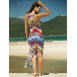 Colorful Zigzag Fringe Racerback Flapper Dress for sale
