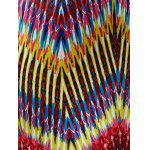 best Colorful Zigzag Fringe Racerback Flapper Dress
