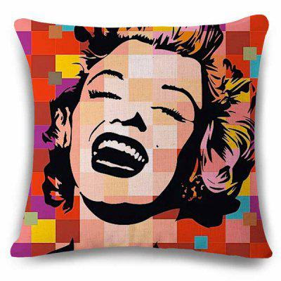 Classic Pop Art Marilyn Monroe Photo Linen Pillowcase