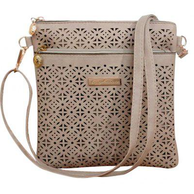 Stylish Hollow Out and PU Leather Design Crossbody Bag For Women