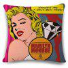 Classic Marilyn Monroe Photo Diamond Letter Pattern Pillowcase
