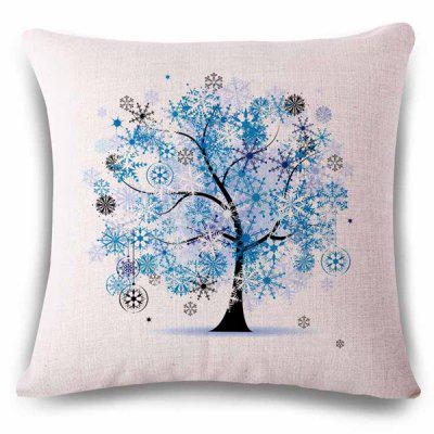 Fantasy Frost Flower Decoration Tree Color Drawing Design Pillowcase