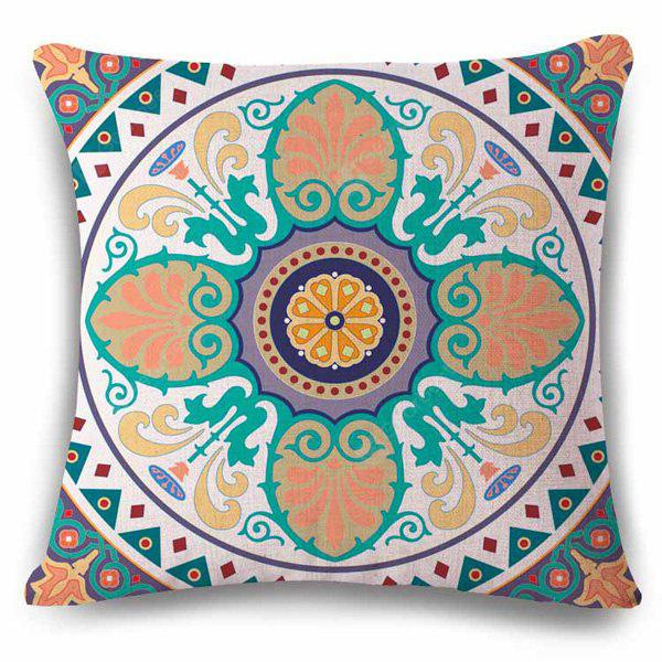 Novelty Ethic Multicolor Flower Design Square Shape Pillowcase