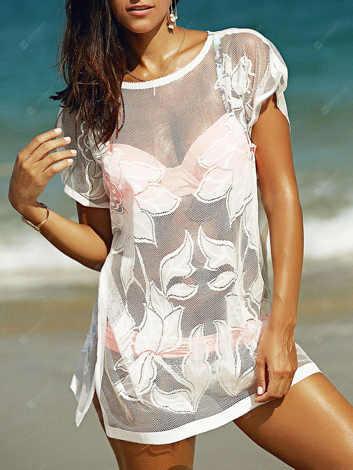See Through Tunic Bathing Suit Kaftan Cover Up 7 60