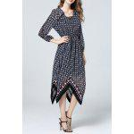 Asymmetric Hem Polka Dot Dress for sale