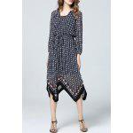 Asymmetric Hem Polka Dot Dress deal