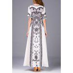 Beaded Print Maxi Dress - CRYSTAL CREAM