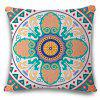 Novelty Ethic Multicolor Flower Design Square Shape Pillowcase - COLORMIX