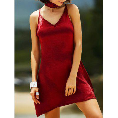 Stylish Cami Pure Color Satin Women's Dress