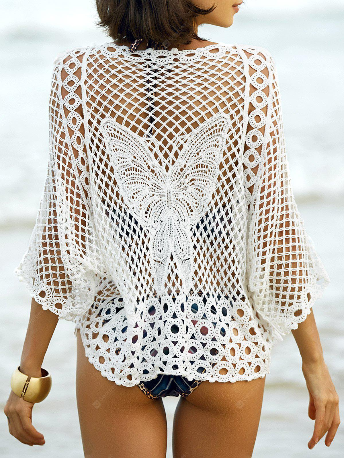 Hollow Out Butterfly Pattern Cover-Up