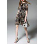 Chiffon Floral Swing Dress - COLORMIX