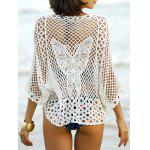 Hollow Out Butterfly Pattern Cover-Up - WHITE