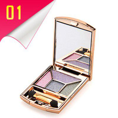 Stylish 4 Colours Rhinestone Earth Colors Diamond Eyeshadow Palette with Mirror and Brush