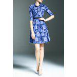 Floral Print Denim Shirt Dress deal