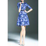 Floral Print Denim Shirt Dress for sale