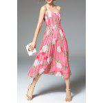 Flower Print Pleated Dress for sale