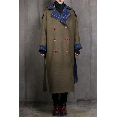 Double Breasted Reversible Belted Coat