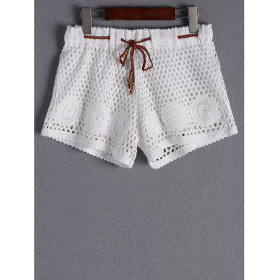 Stylish Tie Crochet Shorts For Women