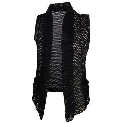 Casual Mesh See-through Thin Waistcoat For Men