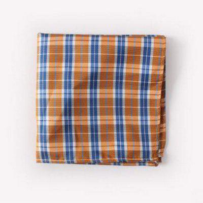 Buy ORANGE Stylish Tartan Pattern Formal Banquet Party Business Suit Pocket Square For Men for $1.74 in GearBest store