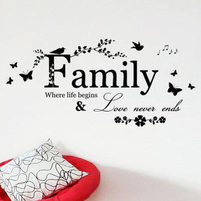 High Quality Removable Family Butterfly Wall Art Sticker