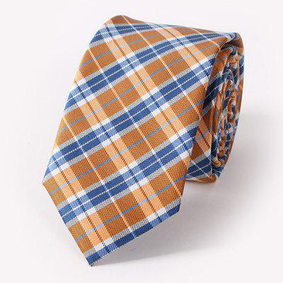 Stylish Tartan Pattern Formal Banquet Party Tie For Men