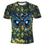 Buy COLORMIX Round Neck 3D Abstract Eyes Printed Short Sleeve T-Shirt For Men for $13.33 in GearBest store