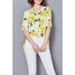 Lemon Print Chiffon Blouse deal