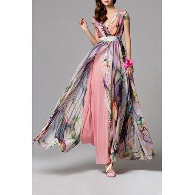 High Slit Floral Maxi Dress